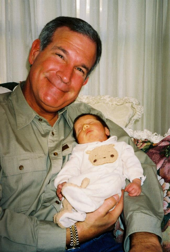 Holding Ainsley first granddaughter, now sixteen